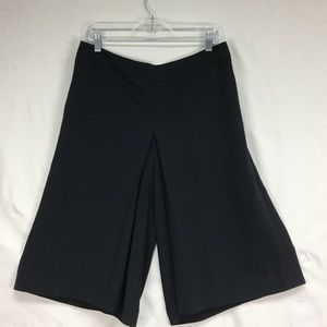 The Limited Black Cropped Culottes Wide Leg Pants